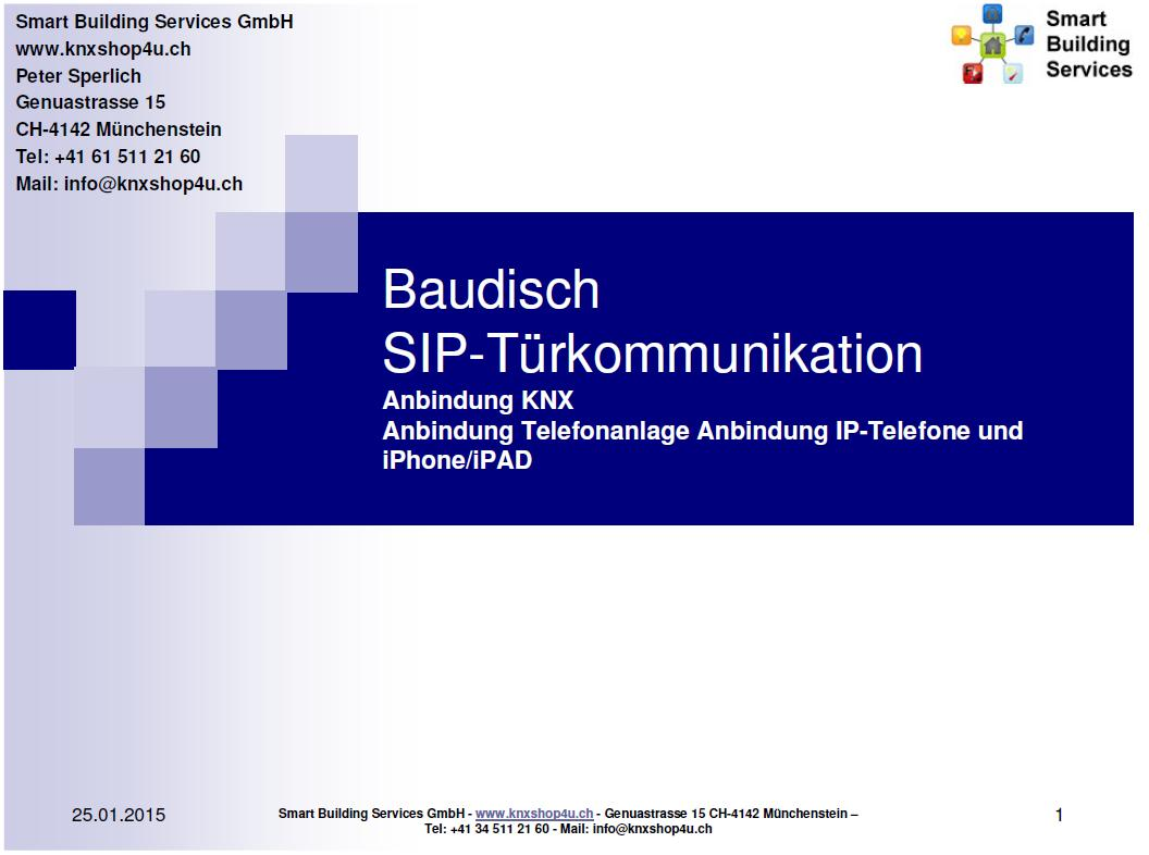 Baudisch Türkommunikation Download Präsentation